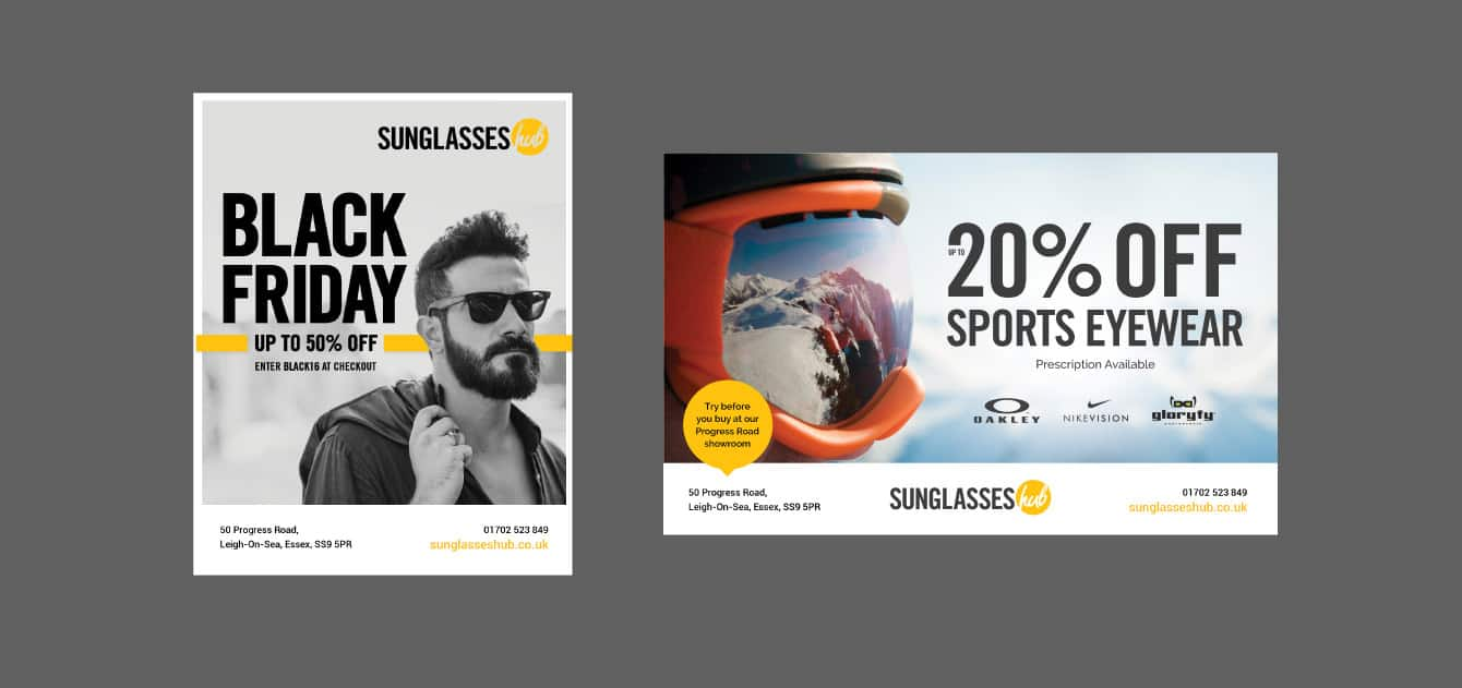 Sunglasses Hub Adverts