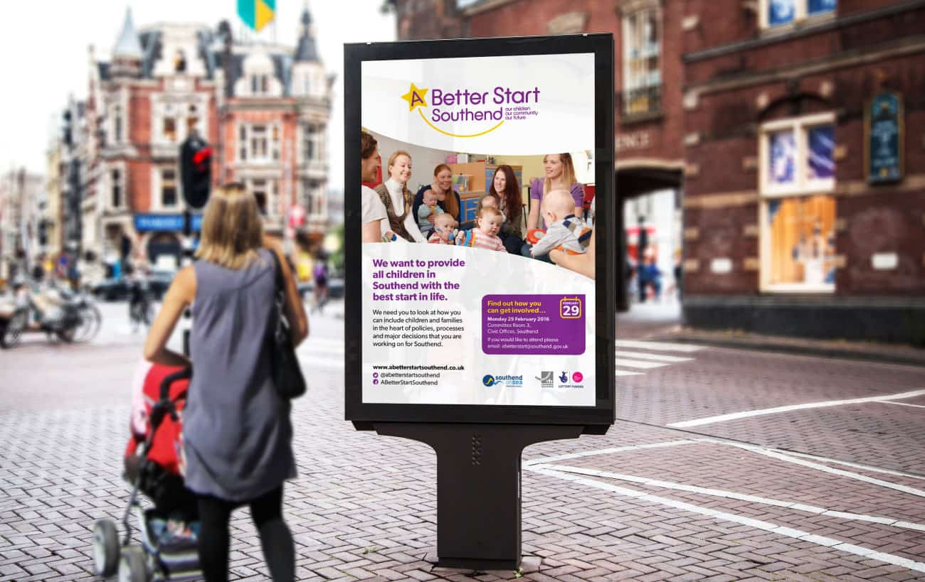 Billboard Exhibition design for a better start southend