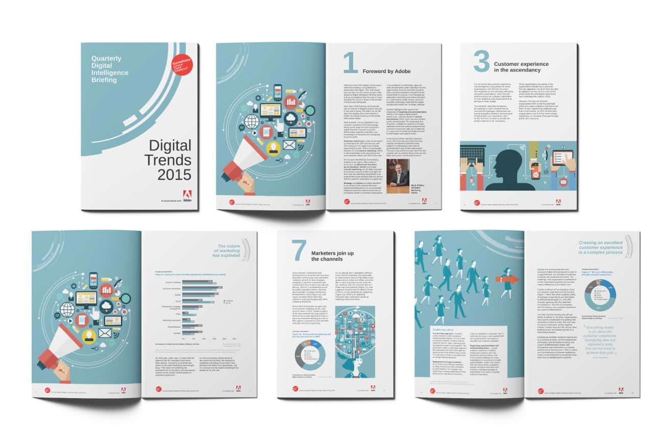 Econsultancy cover and spead designs
