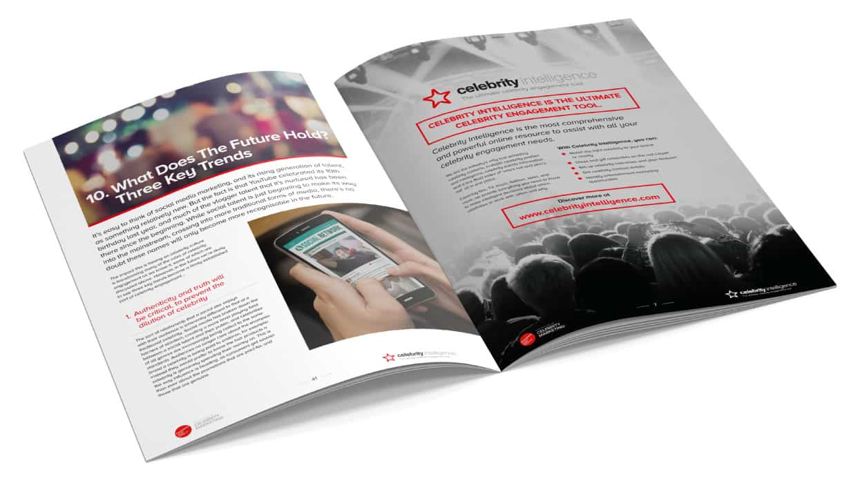 Celebrity brochure design for econsultancy