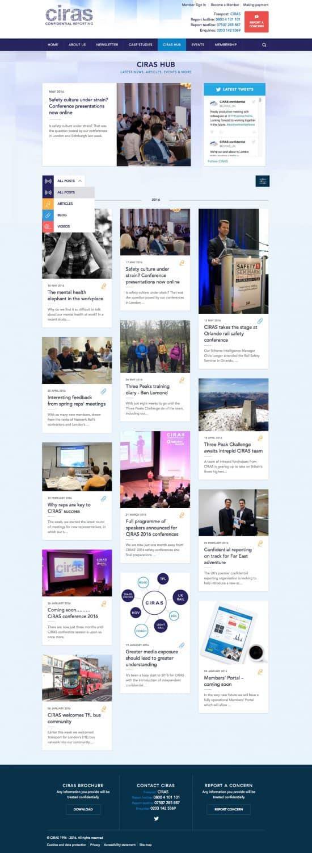 Ciras social media hub design