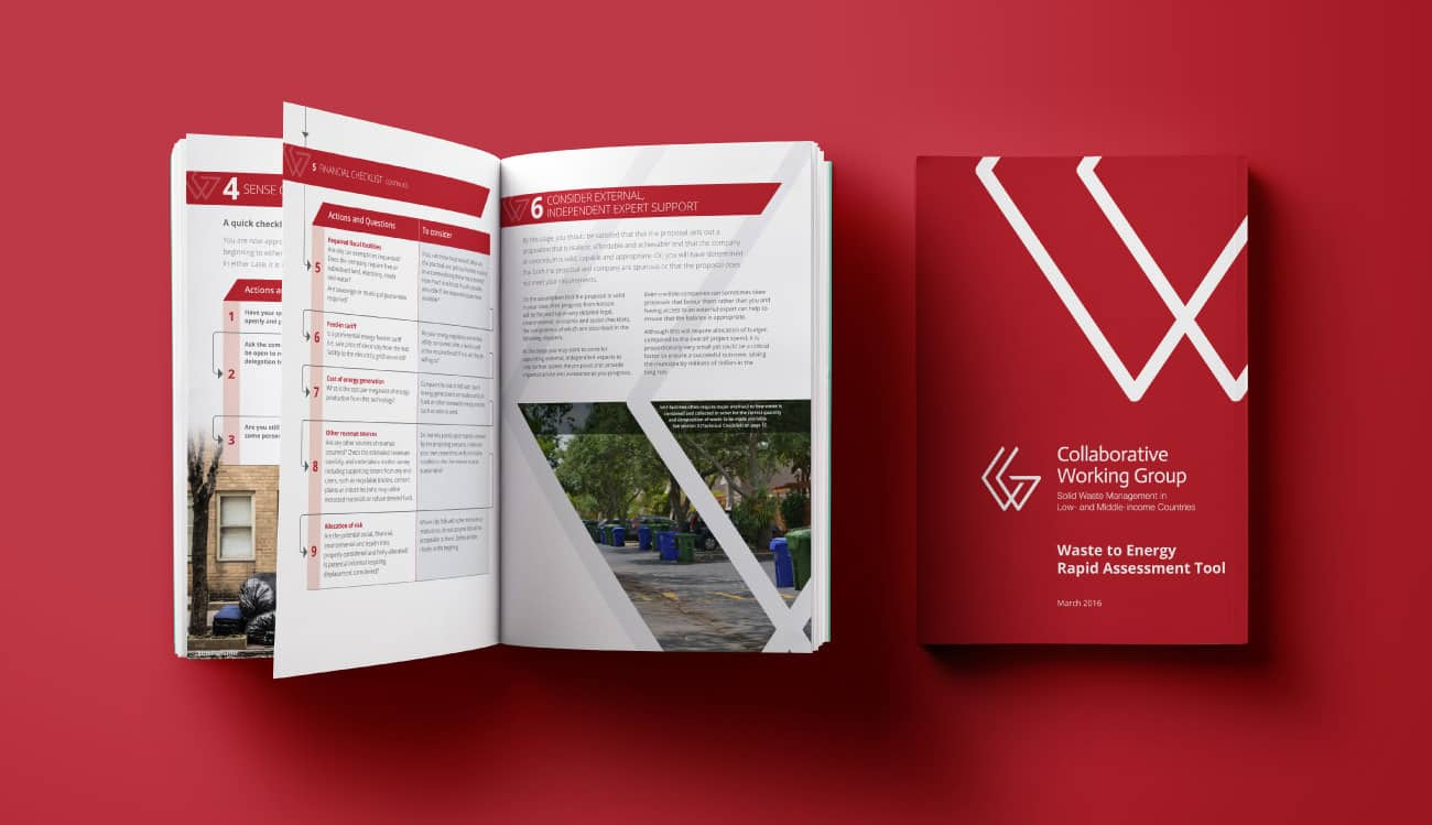 CWG brochure and internal comms designs