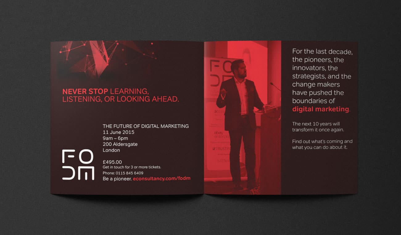 Econsultancy brochure spead design