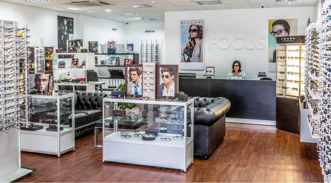Focus glasses showroom leigh on sea