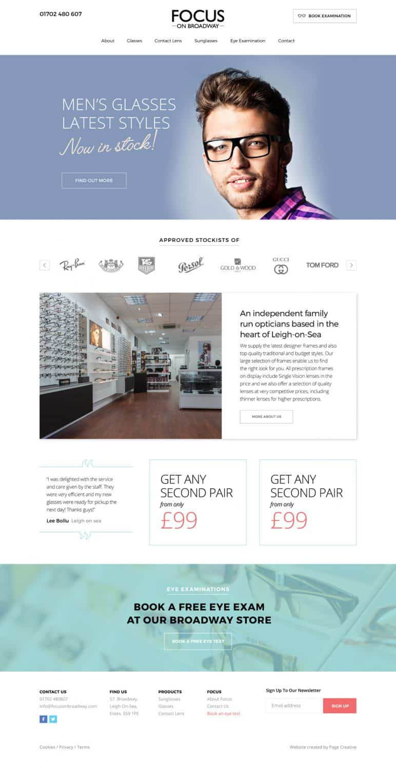 Focus on Broadway Website design leigh on sea