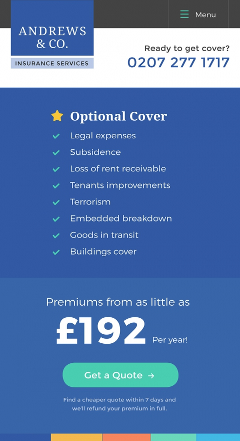 Responsive website design for insurance company essex