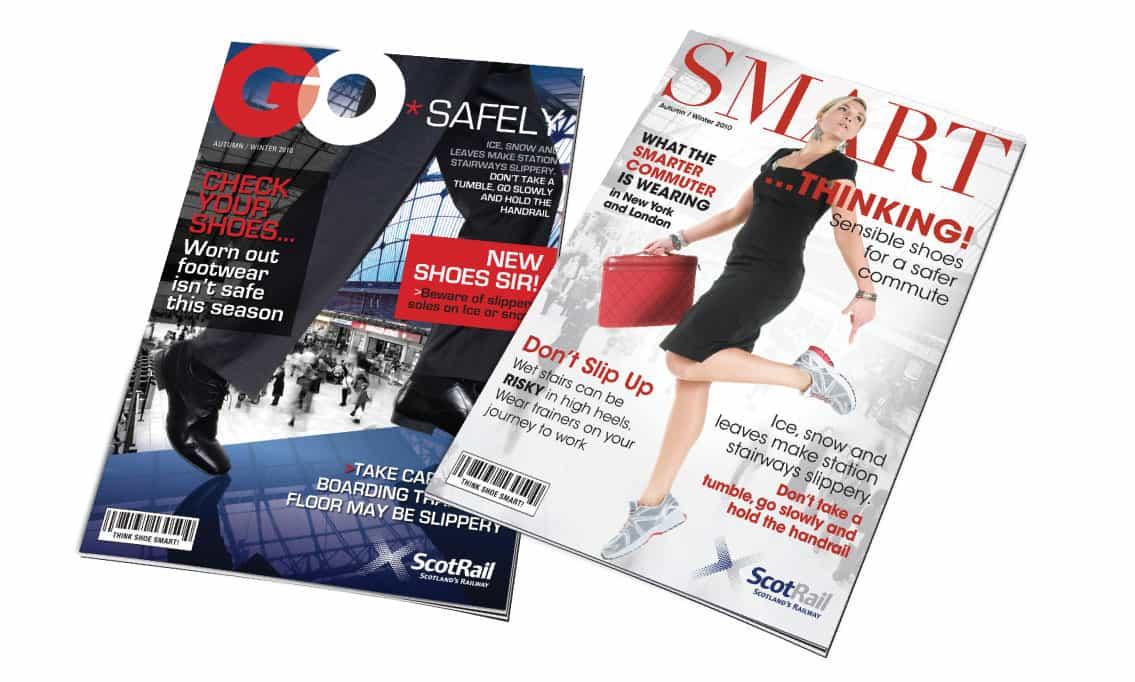 magazine design for internal campaign
