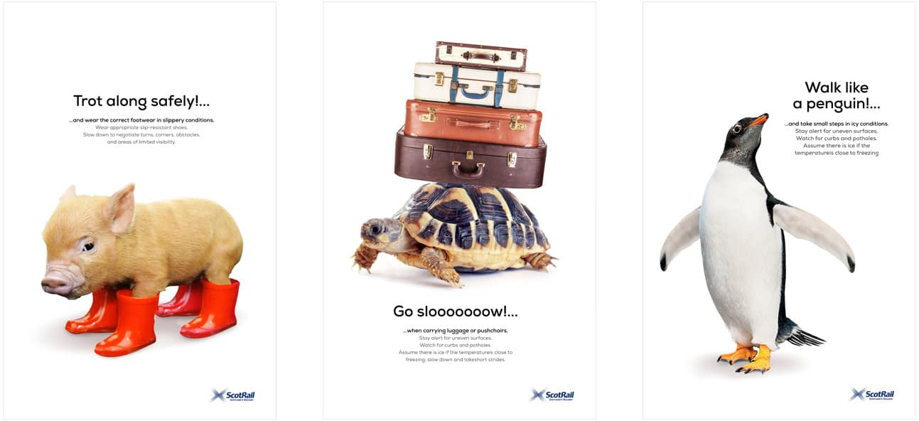 New scotrail posters for safety