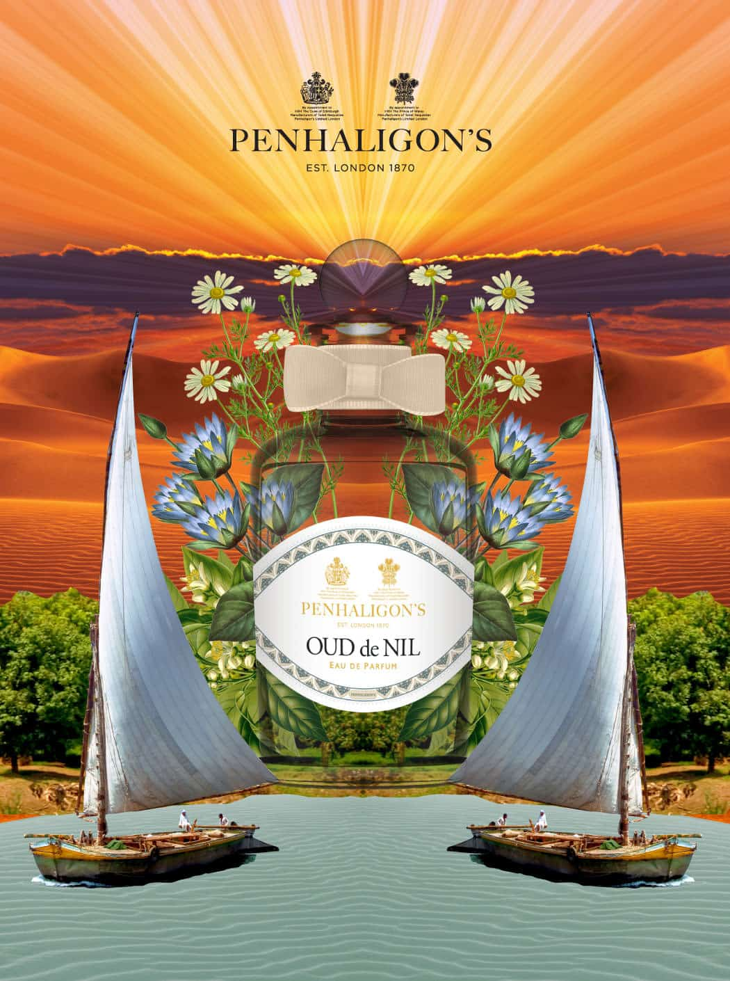 Penhaligons trade routes poster design