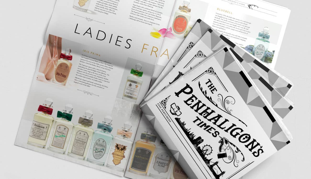Penhaligons internal magazine design
