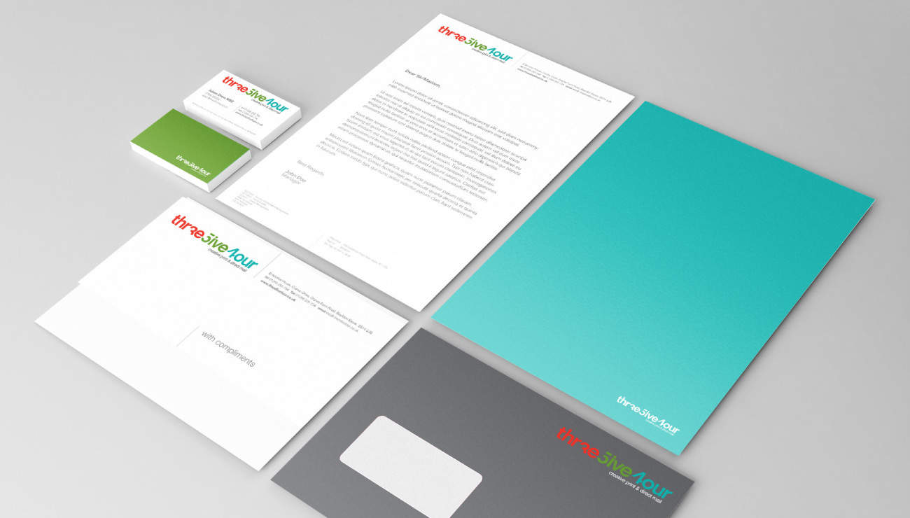Stationery designs for printers in basilon