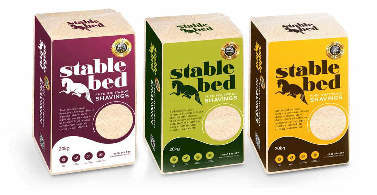 Range of packaging for horse bedding company essex