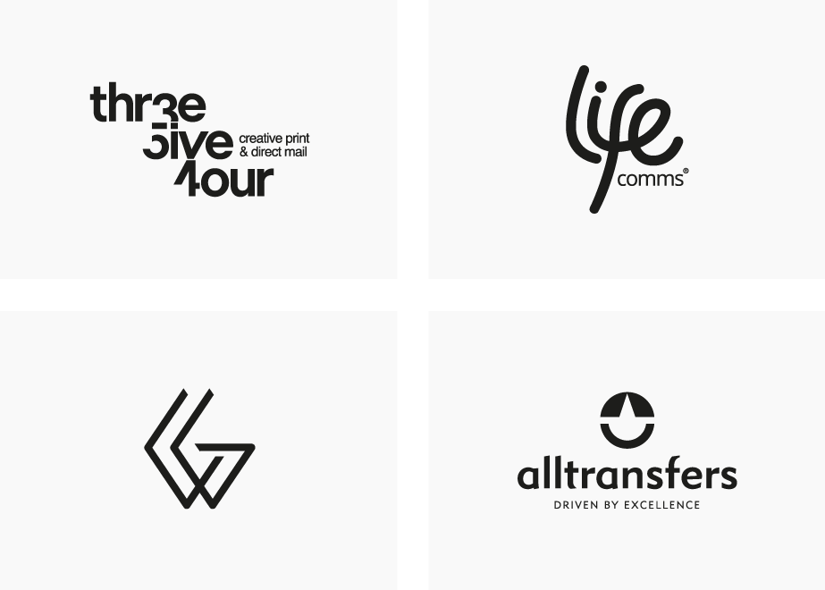 Logo design examples page