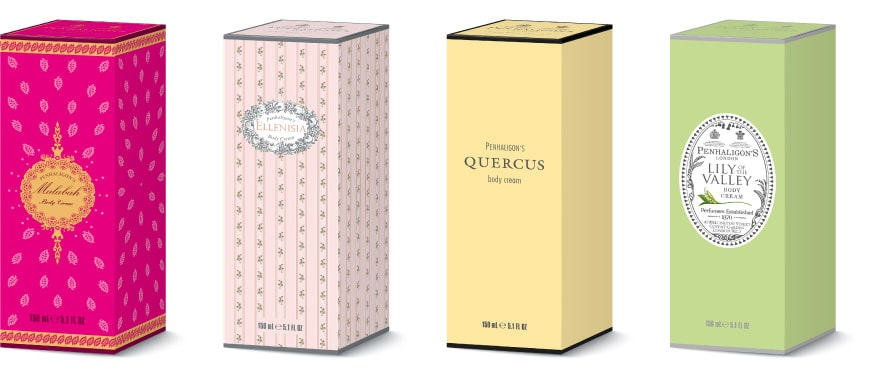 Pehaligons packaging designs