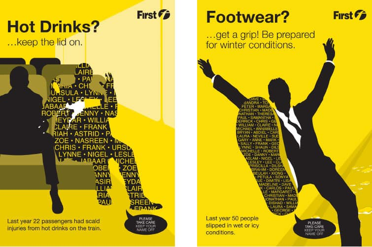 First safety poster designs