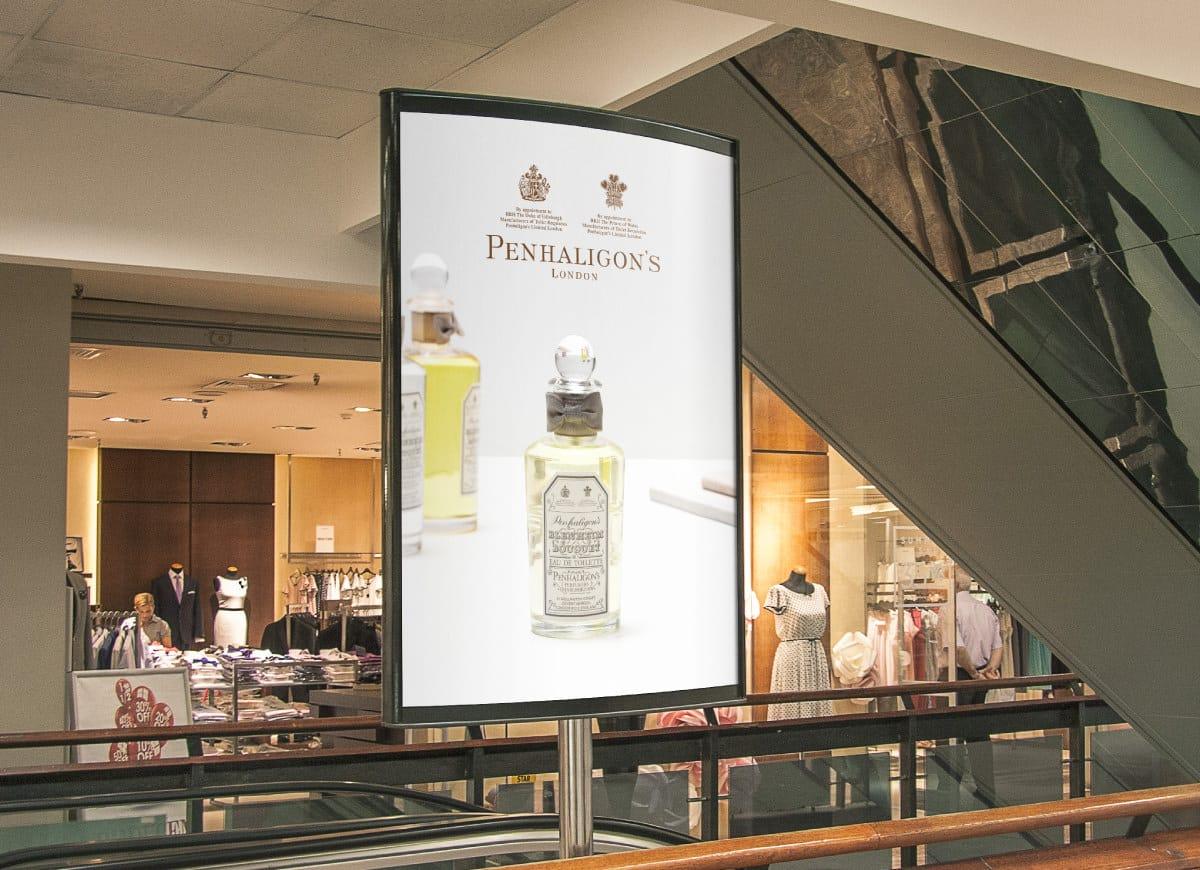 Penhaligons store graphics