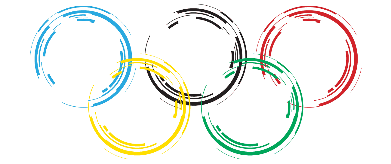 First olympic rings