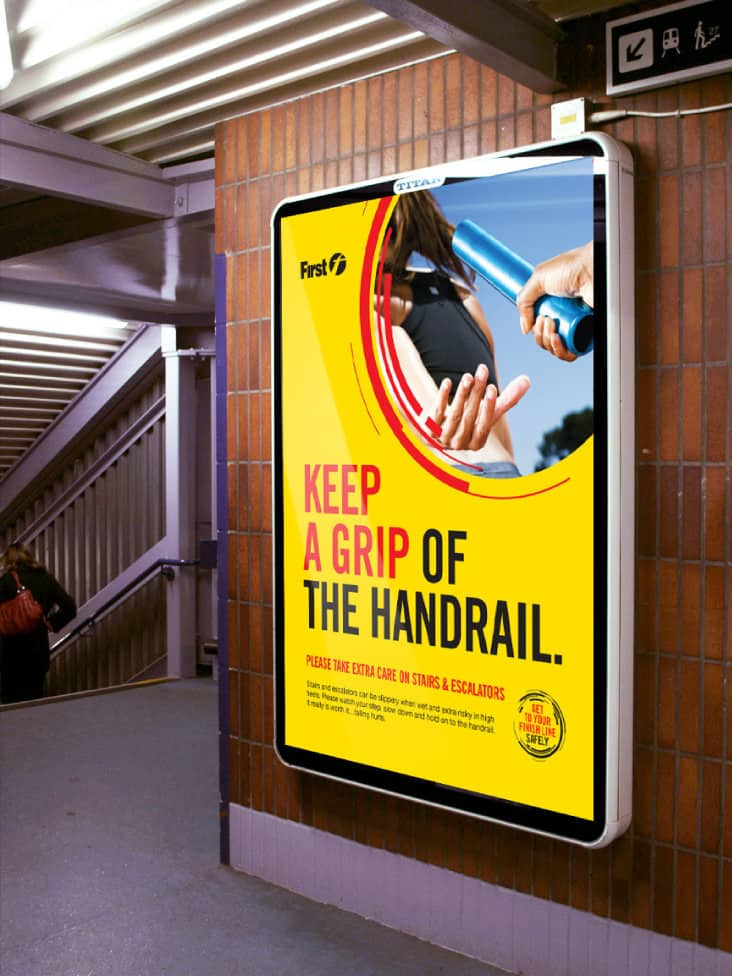 Hold the handrail first safety design
