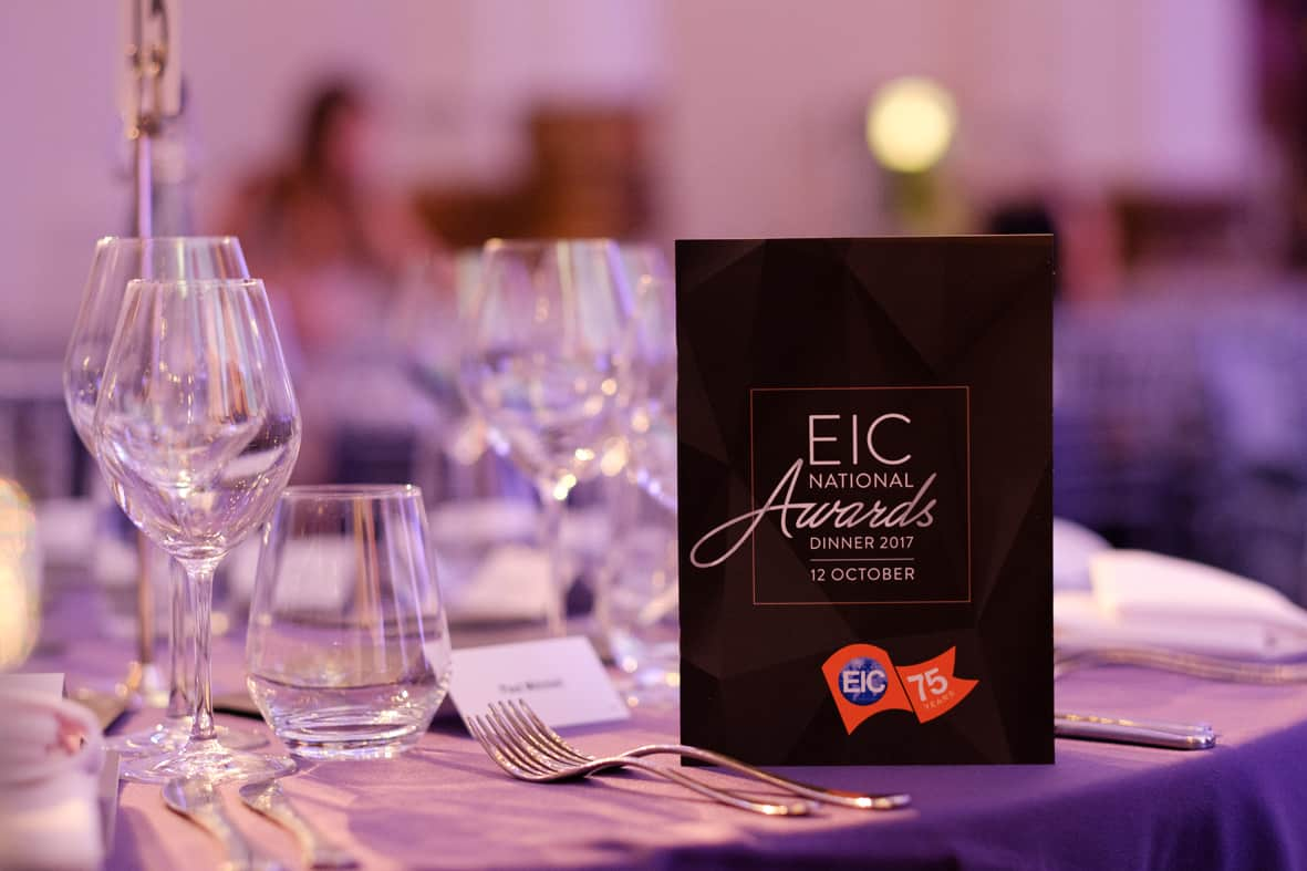 EIC Awards Dinner 2017 | Photo by Owen Billcliffe Photography